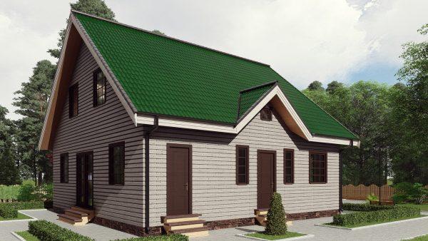 Двухэтажный дом площадью 221 кв. м. 17ЖЗ02-ДМ-10.5х10.5-221