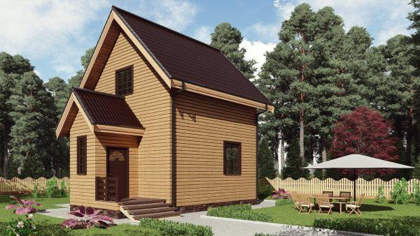 Двухэтажный дом площадью 79 кв. м. 17А301-ДМ-6х6-79