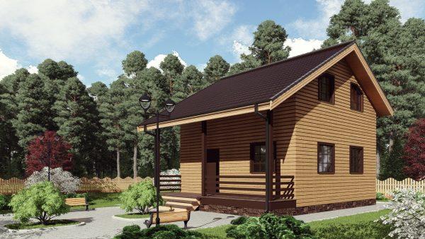 Двухэтажный дом с террасой 17ЖЗ01-ДМ-7х7-109