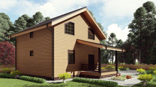 Двухэтажный дом с террасой 17ЖЗ10-ДМ-8х8-142