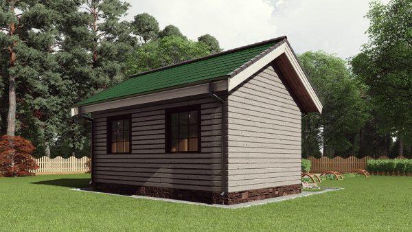 Одноэтажная каркасная баня 24 кв. м. 17АЗ04-Б-4х6-24