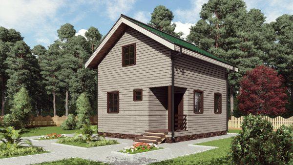 Одноэтажный дом площадью 84 кв. м. 16СБ09-ДМ-6х7-84