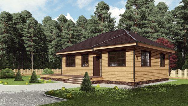 Одноэтажный дом с панорамными окнами 17АЗ03-ДО-8х10.7-114