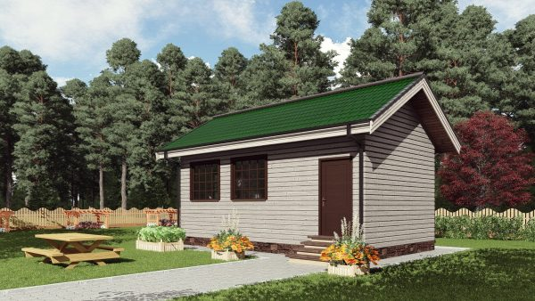 Одноэтажный садовый домик 33 кв. м. 16СБ15-ДО-4.3х7.8-33