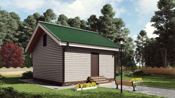 Одноэтажный садовый домик 36 кв. м. 17АМ01-ДО-6