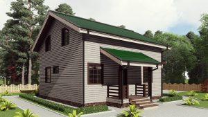 Двухэтажный дом с балконом 16СБ14-ДМ-8.5х9.8-160