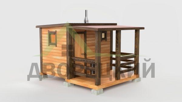 баня 3м с террасой