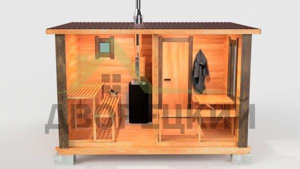 мобильная баня 4м
